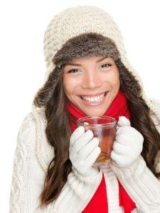 Zimně oblečená žena