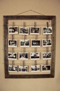 Fotografie připnuté kolíčkami