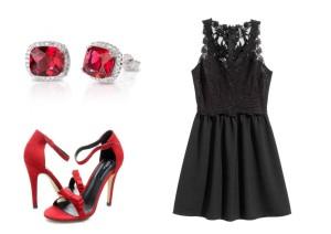 Náušnice: Juvelora.cz, šaty: H&M a boty: Office shoes