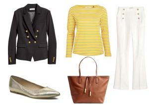Sako: H&M, tričko: Lindex, kalhoty: H&M, boty: Eobuv.cz  a kabelku lze zakoupit v prodejnách H&M