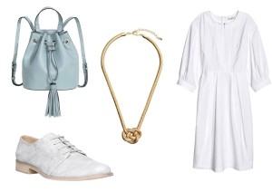 Batoh, náhrdelník a šaty: H&M a boty: Baťa