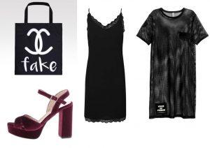 Zaujal vás tento outfit? Tašku lze zakoupit v internetovém obchodě Wayfarer.cz, šaty a boty lze zakoupit v internetovém obchodě ZOOT a transparentní šaty lze zakoupit v prodejnách H&M