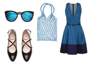 Boty, tašku a brýle lze zakoupit v prodejnách H&M, šaty lze zakoupit v internetovém obchodě ZOOT